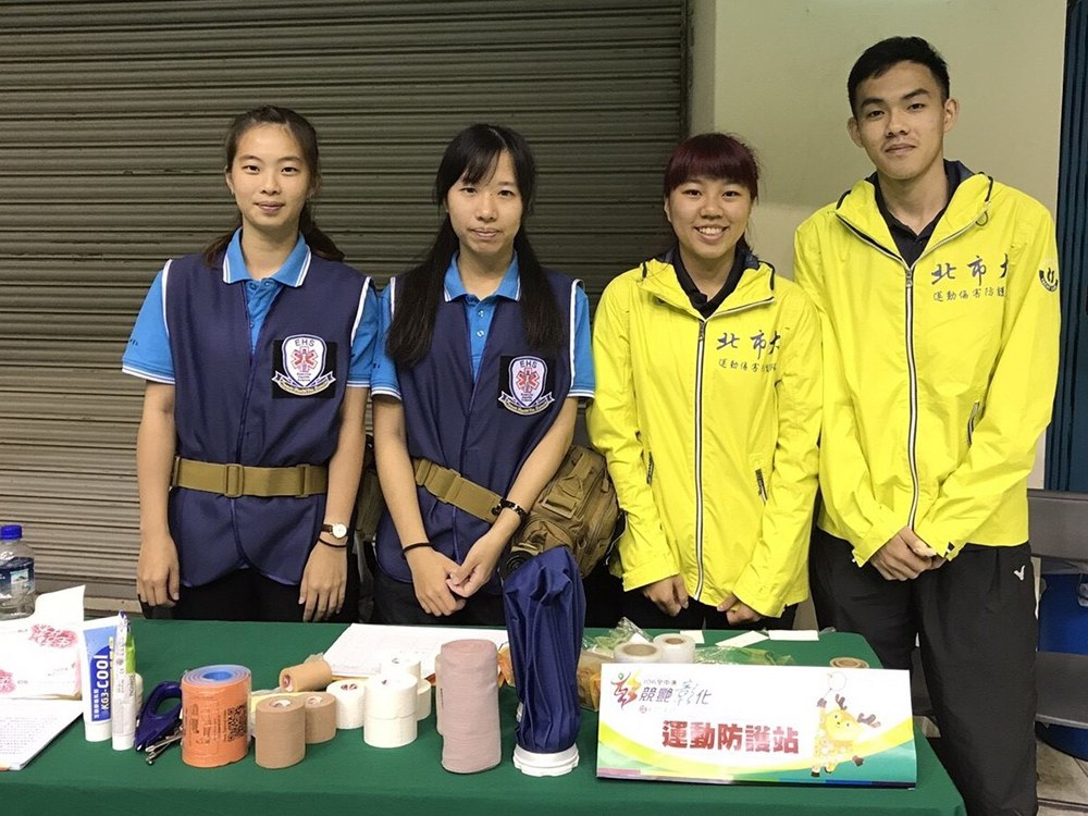 Sports protection station personnel