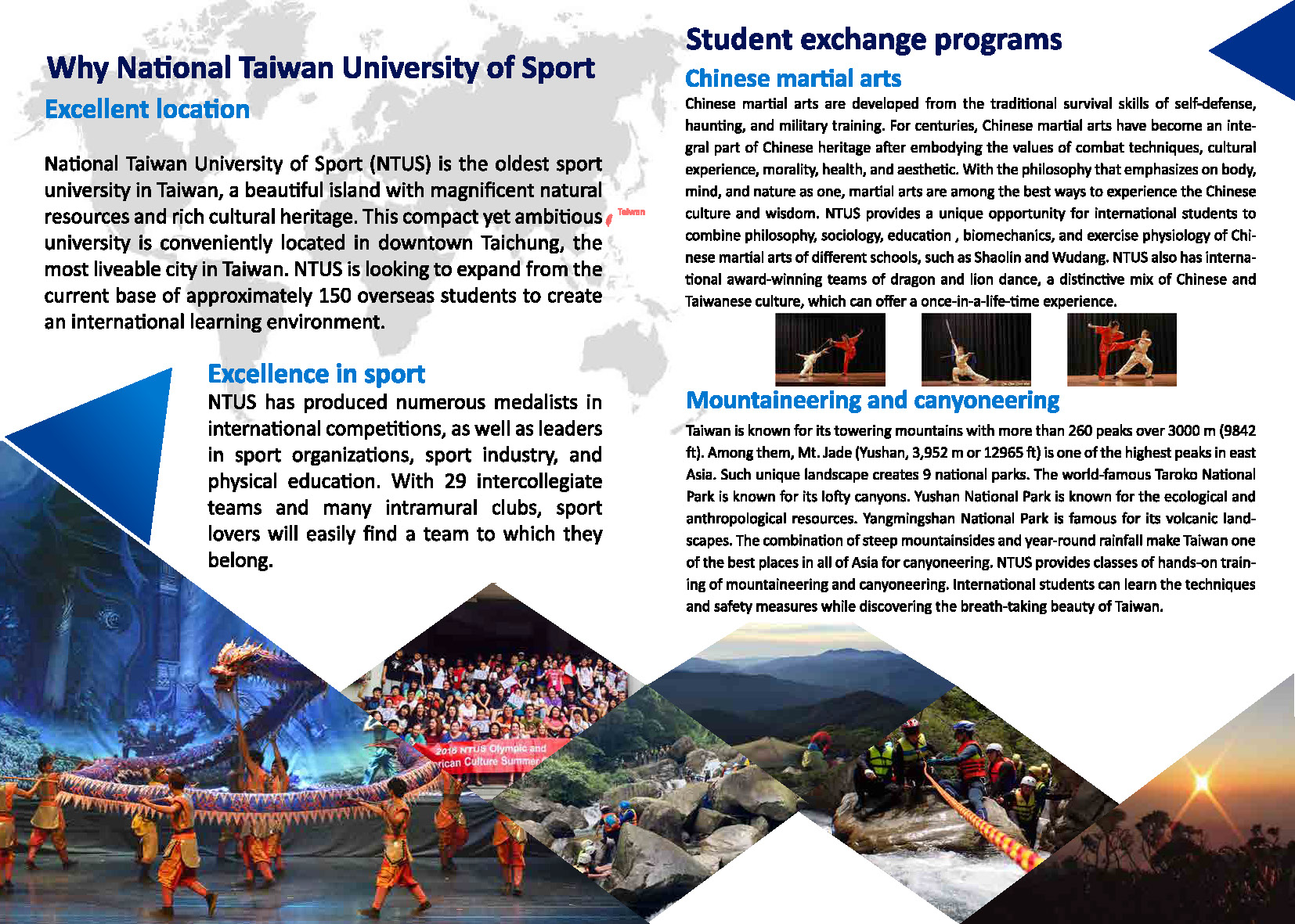 International Exchange Program brochure